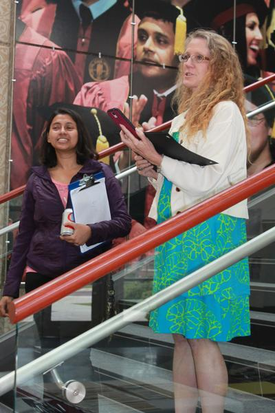 Ambalika Sarkar accepts first place in the Life Sciences for her presentation, Antidepressant Effect of Ketamine in Male and Female Rats