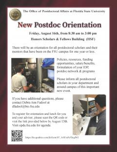 New Postdoctoral Orientation | Office of Postdoctoral Affairs